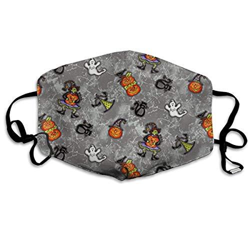 asken, Halloween Gray Face Masks Breathable Dust Filter Masks Mouth Cover Masks Elastic Ear Loop ()