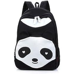 Zehui - Mochila escolar de tela para mujer, diseño de oso panda