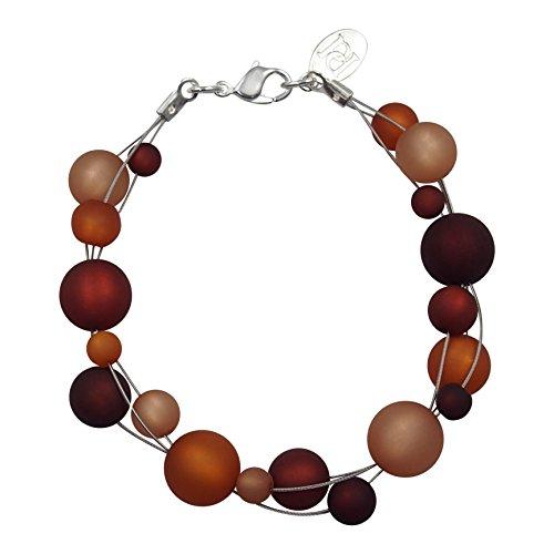 perla pd design Armband aus echten Polarisperlen ca. 19 cm PAD1215 braun