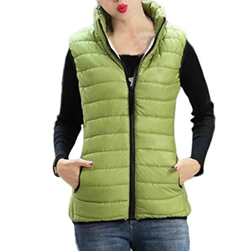 SEWORLD Winterjacke Steppjacke Mantel Damen Heißer Einzigartiges Design Warmer Mantel Kapuzenjacke Schlanker Winter Parka Outwear Mäntel Weste(X1-grün,EU-36/CN-M)