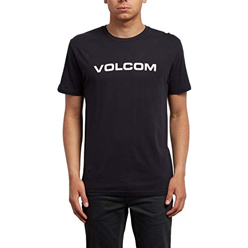 Volcom Crisp Euro BSC SS Camiseta Manga Corta, Hombre, Negro, S