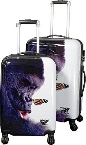 ABS Reisekoffer Koffer Trolley 71 Liter in verschiedenen Farben Jungle/Gorilla