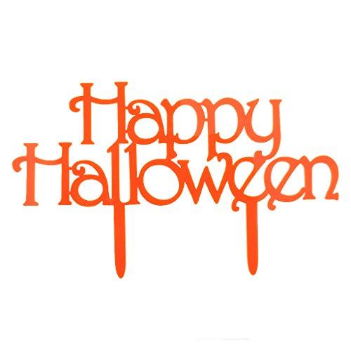 MagiDeal Acryl Halloween Kuchenaufsätze als Tortendeko Cake Topper Kuchendekoration für Halloween Party