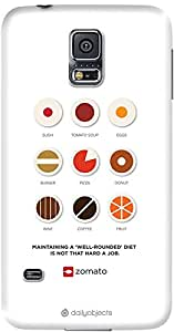 DailyObjects Well Rounded Diet Case For Samsung Galaxy S5
