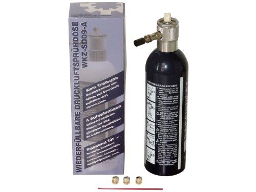 Preisvergleich Produktbild Rotek wiederbefüllbare Sprühflasche inkl. 4 Düsen - einfach Mittel einfüllen, mit Druckluft befüllen und sprühen