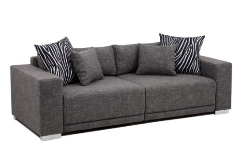 Collection AB Big Sofa London-XLStruktur grau, 237x103 cm, -