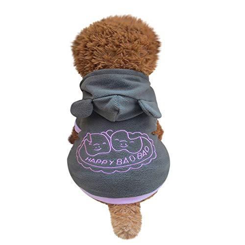 Xbeast Haustier-Jacke mit Kapuze, Fleece, Ferkel-Design, hält warm, für kleine Haustiere, für Hunde und Katzen (Ferkel Hunde Kostüm Für Halloween)