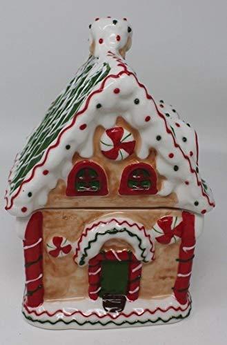 Das Gute Leben Weihnachten Festliche Lebkuchenhaus Keksdose Aufbewahrungsbox Keramik 20cm hoch