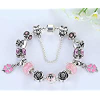 925 Silver Big Hole Beads Fashion Charm Bracelets Bangles for Women