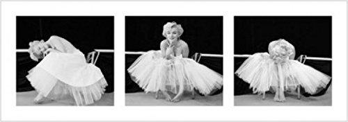 1art1 43831 Marilyn Monroe - Ballerina Triptychon Poster Kunstdruck 95 x 33 cm