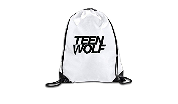 Etryrt Sacs /à Cordon,Sac /à Cordes,Sac /à Dos Teen Wolf Logo Drawstring Backpack Sack Bag for Gym Sport Or Travel Storage