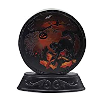 bingT Halloween Decorative Light Lamp,Night Light Scene Halloween Classic Element Pattern Pumpkin Light, Witch Light, Skeleton Light, Black Cat light, Halloween Decoration Party Atmosphere Props (C)