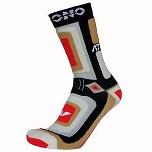 2 Paare Snowboardsocken ATTONO® Ski Snowboard Socken Strümpfe mittellang Damen Herren (Größen 39-47)