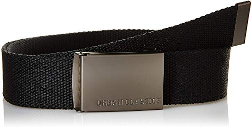 Urban Classics Herren Canvas Belts Gürtel, Black, One size