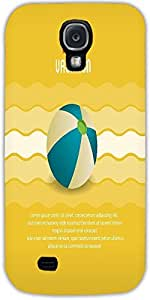 Snoogg Summer Vector Illustration With Ball Protective Case Cover For Samsung...