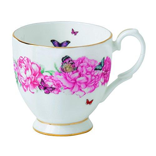 Miranda Kerr von Royal Albert Gratitude Tasse, Bone China Porzellan, weiß, 0,3Liter Royal Doulton Fine China Mug