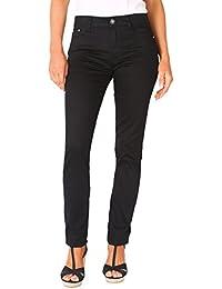 KRISP® Femmes Pantalon Skinny Noir Casual