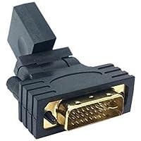 HANDSOME rotazione da 90 a 180 a 360° in oro da maschio a femmina, adattatore connettore da HDMI a DVI, contatti in oro per Adattatore/Convertitore multimediale