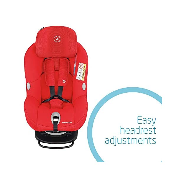Maxi-Cosi MiloFix ISOFIX Combination Car Seat, Group 0+/1 car seat, Rear and Forward-facing, 0-4 years, 0-18 kg, Nomad Red Maxi-Cosi Extended rearward-facing travel up until 18 months for improved head and neck protection Install using isofix with top tether anchorage strap with colour indicators Long-lasting car seat, growing with baby from birth to approx. 4 years old 5