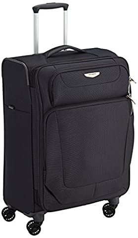 Samsonite Spark Suitcase 4 Wheel Spinner Expandable 67cm Medium Black
