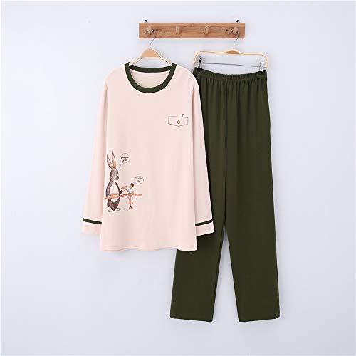 Link Wolf Kostüm - Damen Baumwolle Schlafanzug Pyjama Set Lang Zweiteilige,Paar Baumwolle Langarm Männer und Frauen Anzug Home Service A-9 männlich L