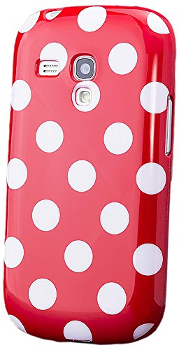 iCues Samsung Galaxy S3 MINI Dot TPU Cover - Rot - Aus flexiblem TPU + Displayschutzfolie
