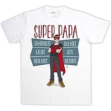rigolobo Super Papa – Camiseta Hombre, Blanco, ...