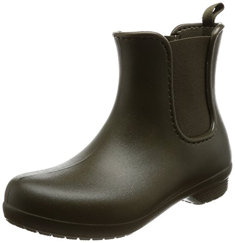 crocs Freesail Chelsea Boot Women, Damen Gummistiefel, Grün (Dark Camo Green), 36/37 EU