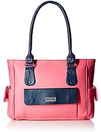 Fantosy Women's Handbag (Pink and Blue) (FNB-294)
