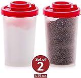 Signora Ware kleine Salz- und Pfefferstreuer für unterwegs - Mini Streuer Set für Salz und Pfeffer mit Deckel zum mitnehmen - Perfekt für Reisen, Camping und To-Go - Verschließbar - 85g, 2er Packung