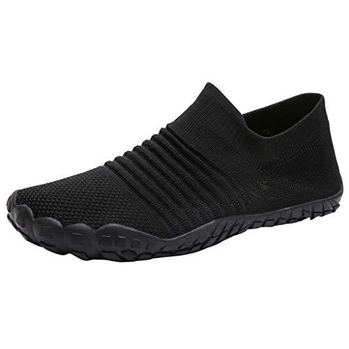 CUTUDE Damen/Herren Laufschuhe Ultraleichte Mesh-Trainer Turnschuh Atmungsaktive Freizeitschuhe Sportschuhe Sneaker (Schwarz, 40 EU)