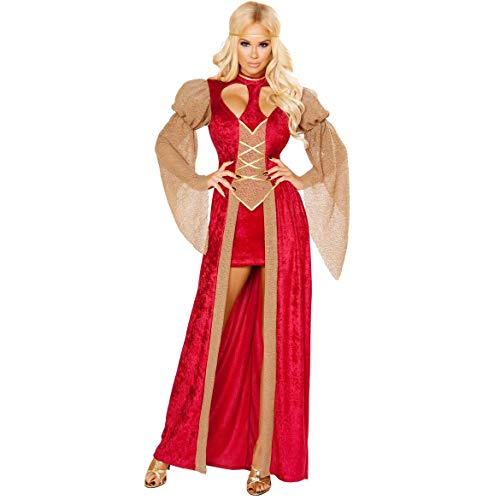 sche Schönheit Griechische Göttin Kleid Halloween Kostüm Arabian Retro Gericht Kleid Robe Kleid (Color : Red, Size : XL) ()