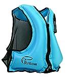 Rrtizan Unisex Snorkel Vest Swim Float Vest Portable Inflatable Kayak Canoeing Jacket Diving