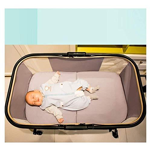 Imagen para Ann Cuna De Viaje Portátil Plegable con Función De Oscilación Incluye Mosquitera Y Ruedas Regalos para Bebés Compactos Fáciles De Mover