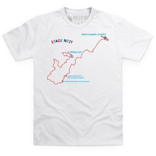 Stage Twenty One T-Shirt, Herren Wei