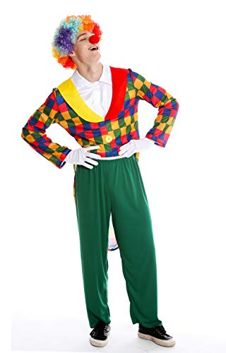 dressmeup Dress Me UP- M-0088-M/L Costume Uomo Carnevale Clown Arlecchino Matto M/L