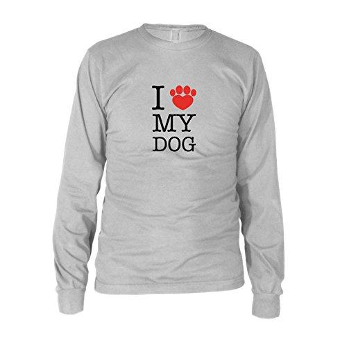 en Langarm T-Shirt, Größe: XXL, Farbe: weiß (Hundebesitzer Kostüme)