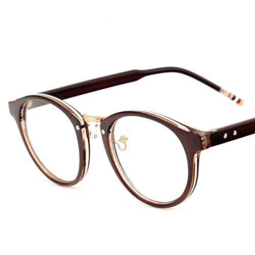 WULE-RYP Polarisierte Sonnenbrille mit UV-Schutz Männer und Frauen Brillengestelle Retro Flat Glasses. Superleichtes Rahmen-Fischen, das Golf fährt (Farbe : Braun)