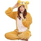 JT-Amigo Damen Herren Tier Kostüm Pyjama Jumpsuit Schlafanzug Overall, Bär Kostüm, Gr. M