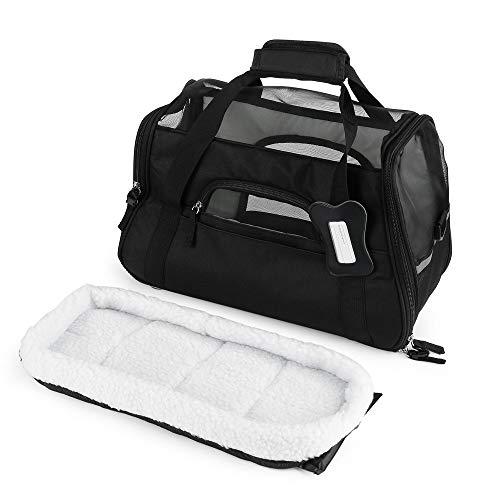 Pet Dog Cat Puppy Kitten Portable Travel Bag Home Carrier Adjustable Strap Black S -