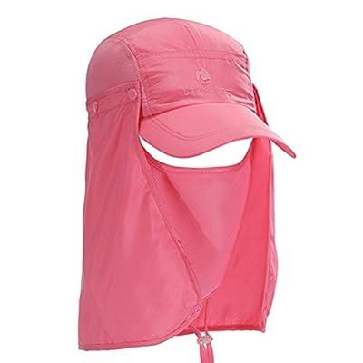 Aosbos Kappe mit Nackenschutz und Maske Anti-UV Cap Sonnenhut für Outdoor Sport