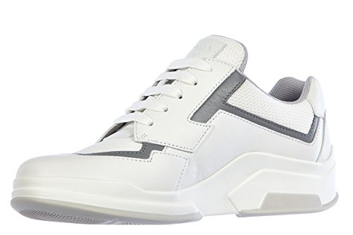 3E5964BIANCO Prada Sneakers Femme Cuir Blanc Blanc