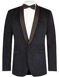 Veste Homme Velours Noire Coupe Slim