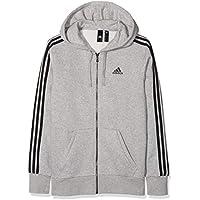 Adidas ESS 3S FZ B Chaqueta, Hombre, Gris/Negro (brgrin), XS