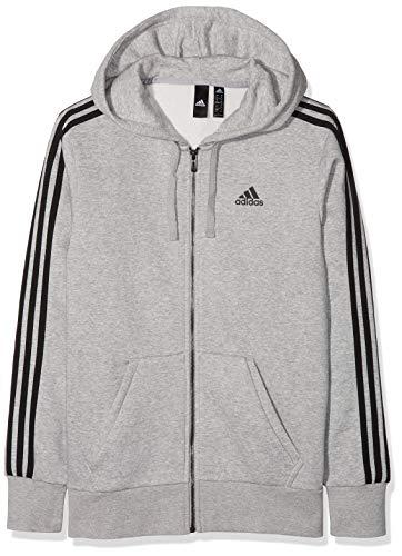 Adidas ESS 3S FZ B Chaqueta, Hombre, Gris/Negro (brgrin), L
