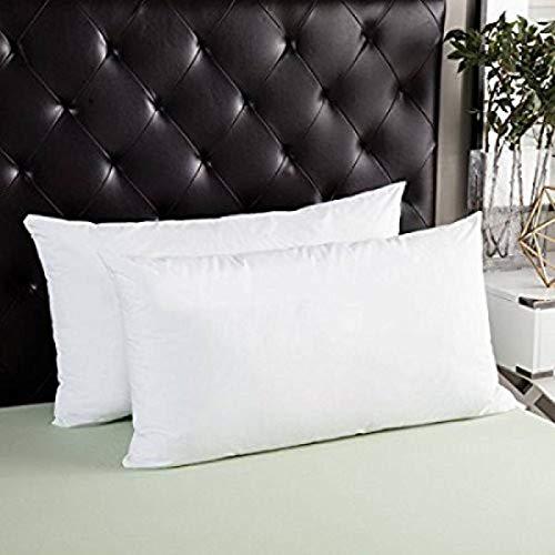 """CLASORA Reliance Fibre Filled 2 Piece Pillow Set - 61"""" x 41"""", Antique White"""