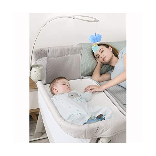 LXZ Baby Diaper Table, Portable Pillow Crib, Splicing Bed, Multi-functional Baby Bed, Newborn Cot, Small Size, Save Space LXZ The mattress cover adopts exclusive protective material. The dense structure effectively blocks dust, keeps the baby away from the respiratory tract and sensitive skin, and is waterproof and dry The crib on the mother's pillow, the baby and the parents sleep and are independent of each other, and the safety and sleep quality are improved simultaneously. C-shaped barrier-free skeleton + bed design, accessible for baby, break the distance, timely comfort, convenient night care 4