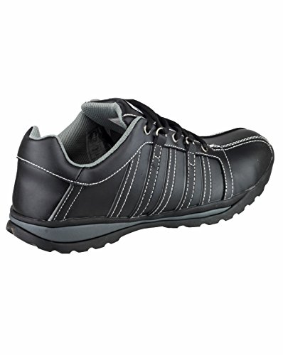 Amblers Safety Mens FS50 Leather Safety Trainers Black Black