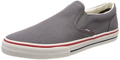 Hilfiger Denim Tommy Jeans Textile Slip On, Scarpe da Ginnastica Basse Uomo, Grigio (Steel Grey 039), 41 EU