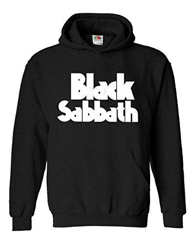 """Felpa Unisex """"Black Sabbath"""" - Felpa con cappuccio metal rock band LaMAGLIERIA, XL, Nero"""